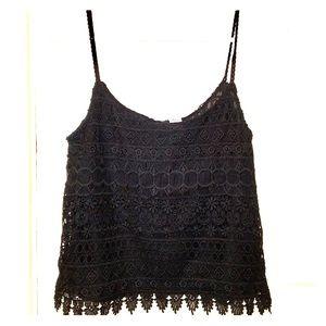 Crochet Black Tank